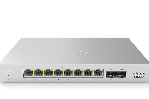 Cisco Meraki MS120-8LP Switch, 8 Port POE switch 67W