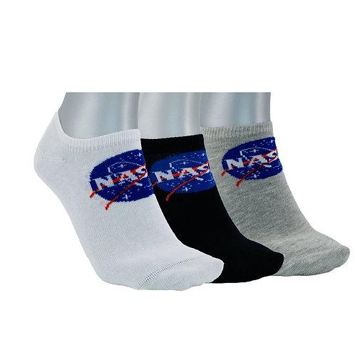 NASA03 - 3 PACK NASA BASIC INSIDE NO SHOW SOCKS - MIXED