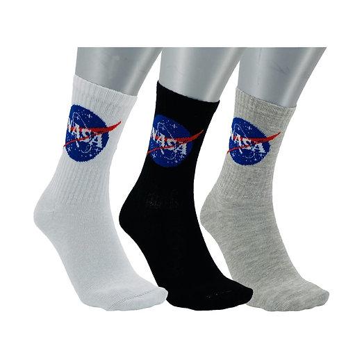 NASA09 - 3 PACK NASA BASIC CREW SOCKS - MIXED