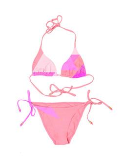 Pink and orange bikini