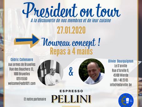 EURO-TOQUES BELGIQUE - PRESIDENT ON TOUR 27.01.2020