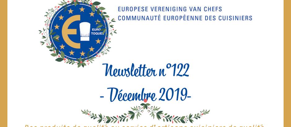 NEWSLETTER N°122 - DÉCEMBRE 2019 -