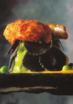 Mousseline de petits pois truffe noire d