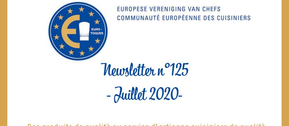 NEWSLETTER N°125 - JUILLET 2020 -