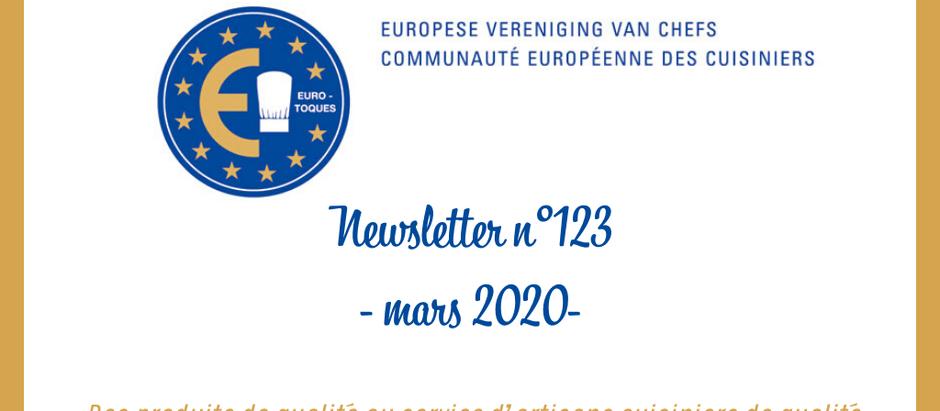 NEWSLETTER N°123 - MARS 2020 -