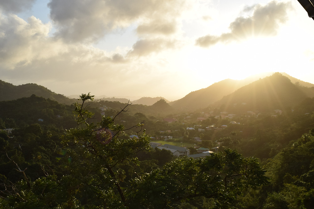 Grenada Inland Mountain View by Sal Lavallo