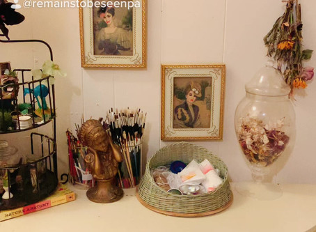 Setting up a new work station specifically for new herbal and botanical items!