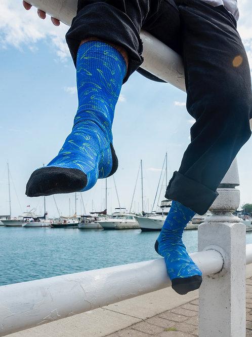 M.E.N. Socks - Dazed Dolphins