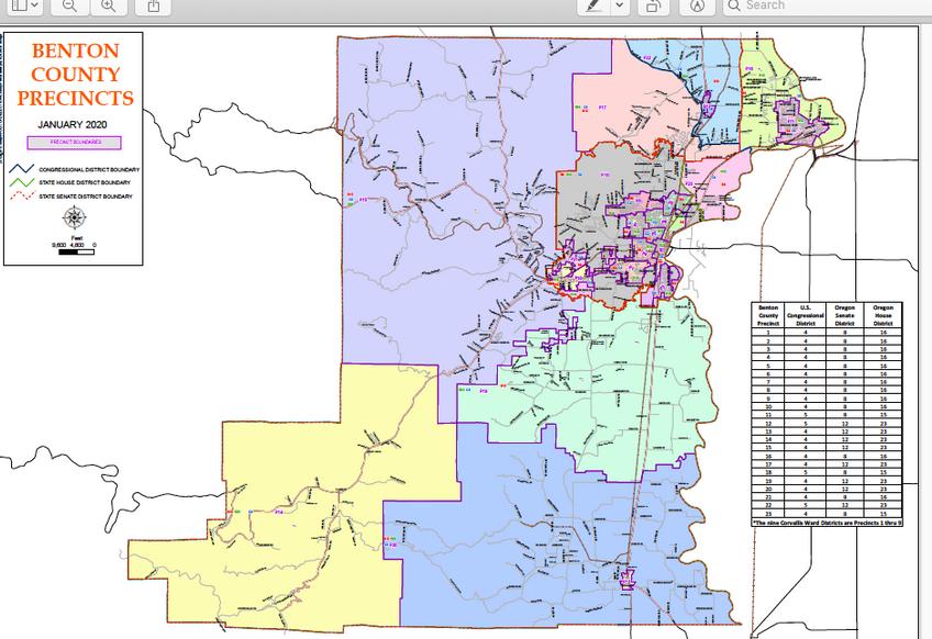Benton County Precinct Map