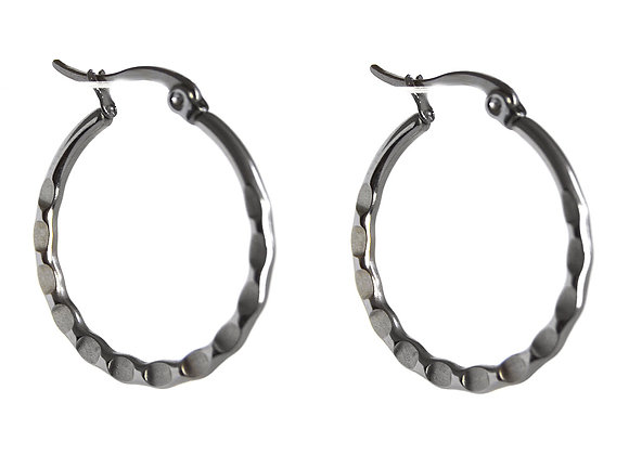 Etch Detail Hoop Earrings
