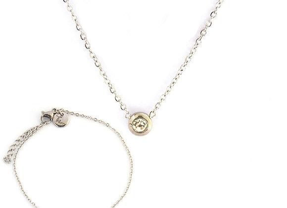 Graceful Necklace and Bracelet Set