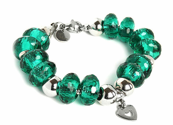 The Beaded Bracelet with Heart Charm