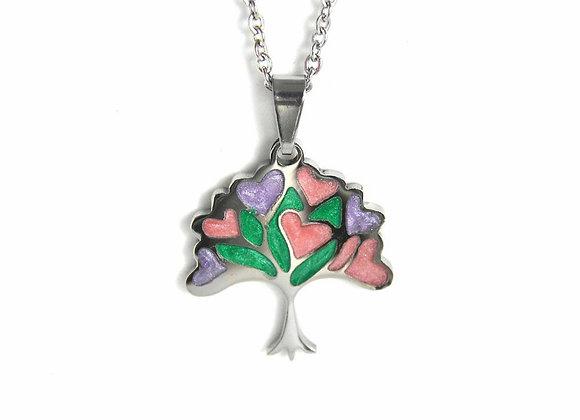 Colourful Tree Pendant