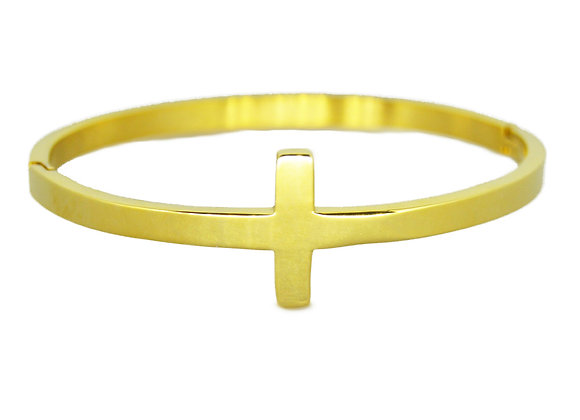 Golden Cross Bangle