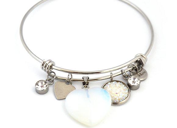 Opal Heart Bangle