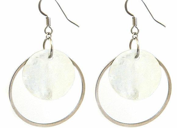 Natural Shell Hoop Earrings