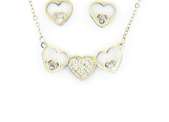 Heartbreaker Earrings and Necklace Set