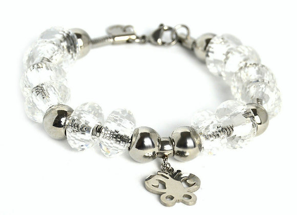 The Beaded Bracelet with Butterfly Charm