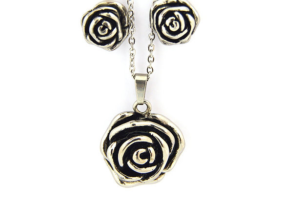 Rosey Earrings and Necklace Set