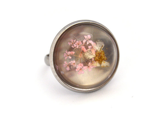 Printed Flower Ring