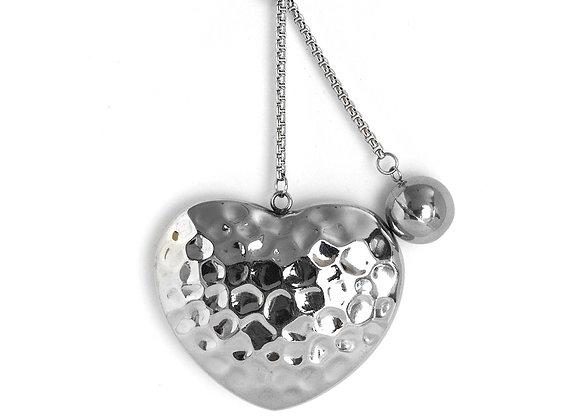 Dangle Detail Heart Pendant