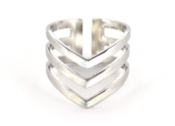 Triple Wishbone Ring