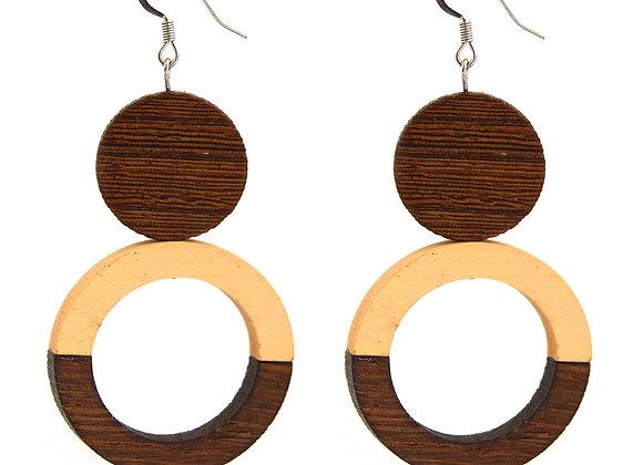 Polished Wood Earrings