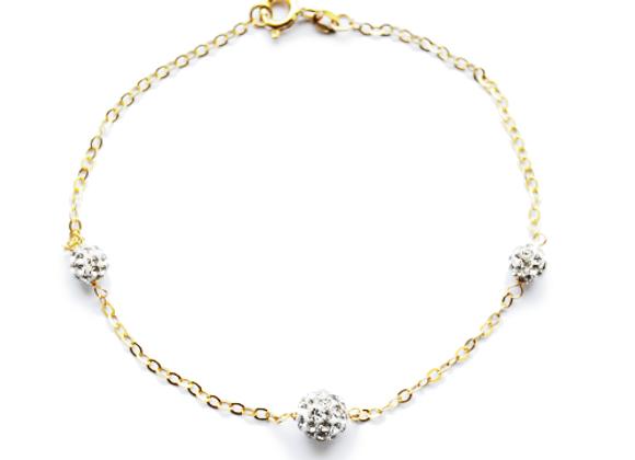 9ct Gold Crystal Bracelet