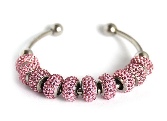 Crystal Studded Bead Bracelet