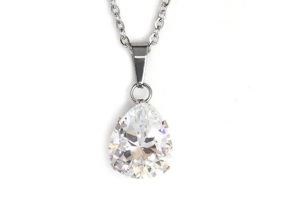 Pear Cut Crystal Pendant