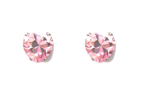 Pink Heart Studs