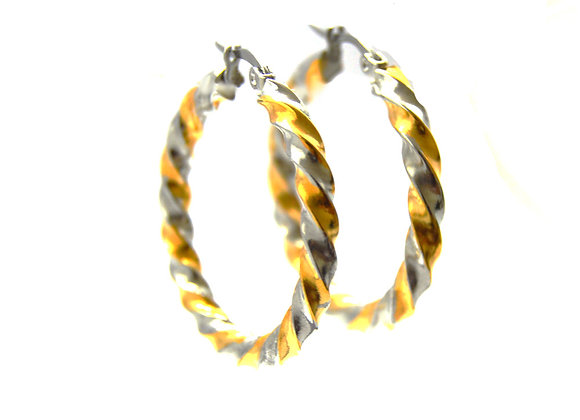 Golden Twist Hoops