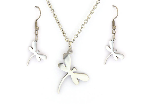 Enticing Butterfly Earrings and Pendant Set