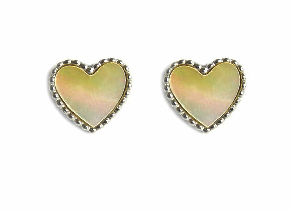 Holographic Heart Studs