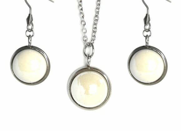 The Clarity Earring and Pendant Set