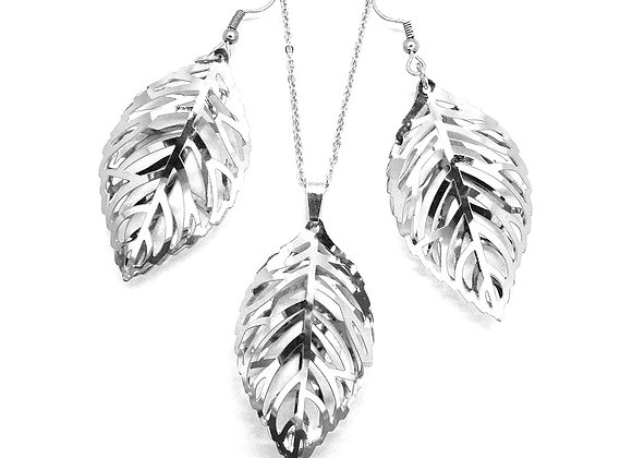Leaf Earrings and Pendant Set