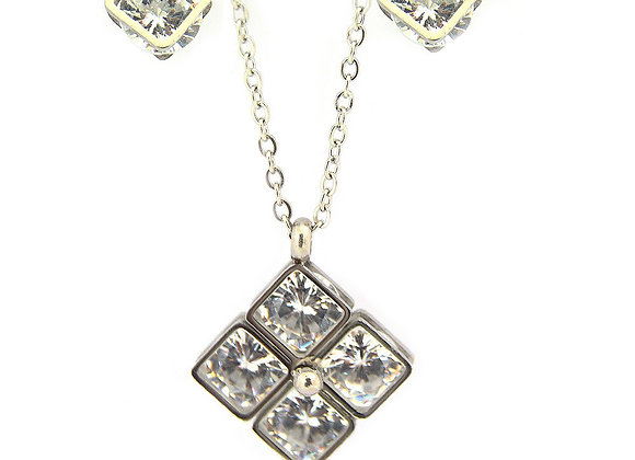 The Crystalline Earring and Pendant Set