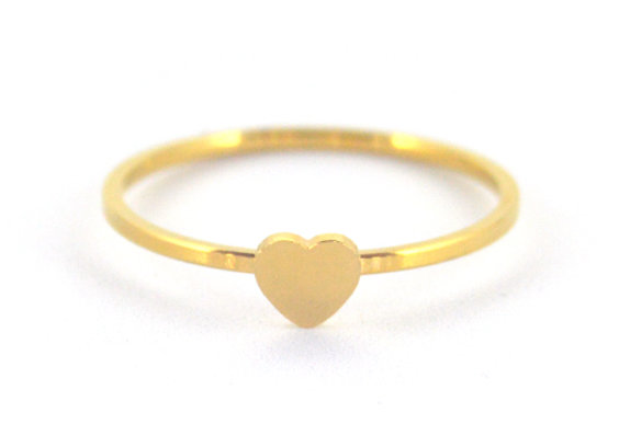 Gold Stackable Heart Ring