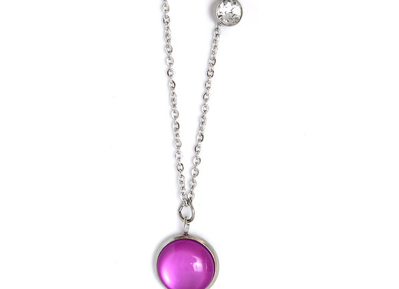 Cat Eye Sparkle Charm Necklace