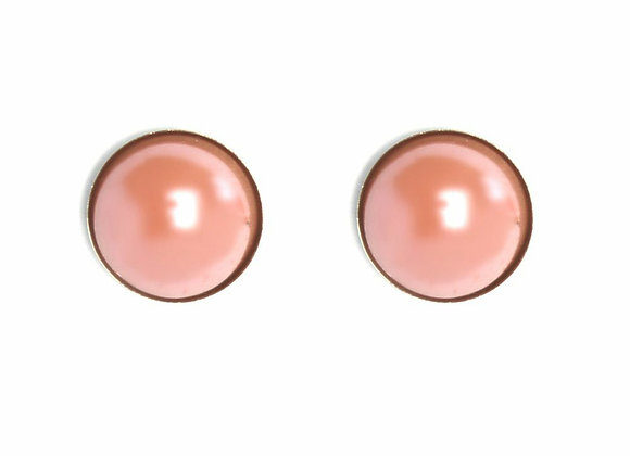 Pearlescent Studded Earrings