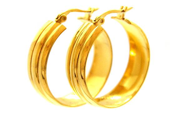 Golden Round Hoops