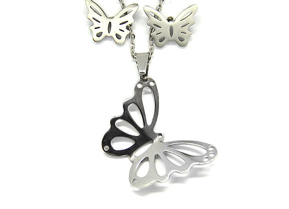 Monarch Butterfly Earrings and Pendant Set