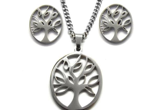 Tree of Life Earrings and Pendant Set