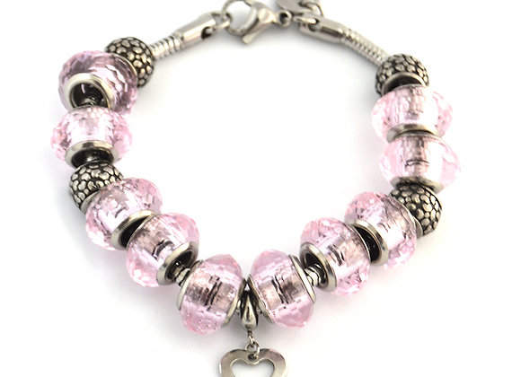 Pretty in Pink Beaded Bracelet
