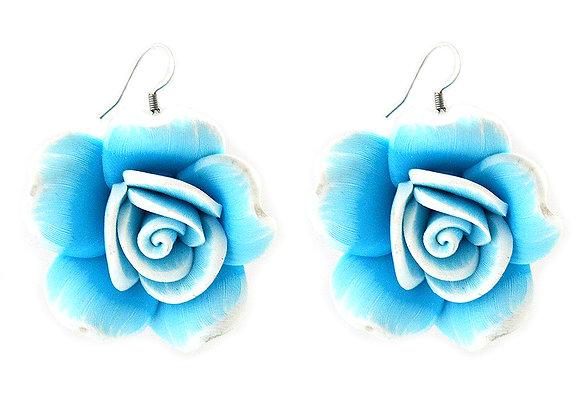 Clay Rose Earrings