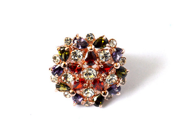 Rose Gold Plated Gem Ring