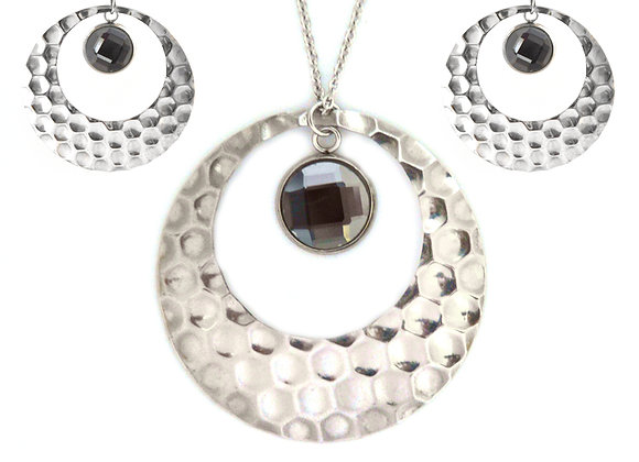 Bubble Earrings and Pendant Set