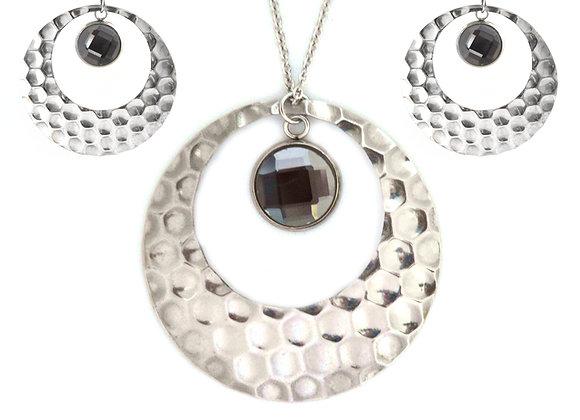 Bubble Earrings and Pendant Set