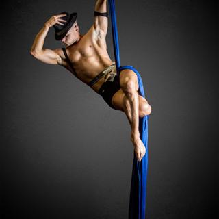 Sexy cabaret aerial silk Aaron Twitchen