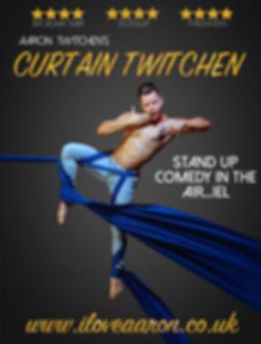 Aaron Twitchen Curtain Twitchen aerial silks comedy show circus silk male aerialist funny edinburgh fringe 2017